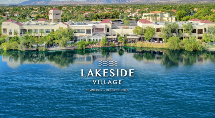 Home Page image showing Lakeside Village Center with the logo